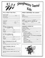 Children New Patient Form